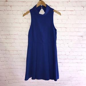 Lulu's; Women's Turtleneck Open Back Dress, Large